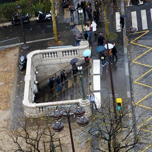 """""""C"""" Metro exit near the Champs-Elysées"""