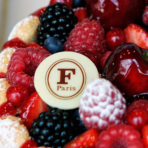 """""""F"""" Irresistible pastry at Fauchon."""