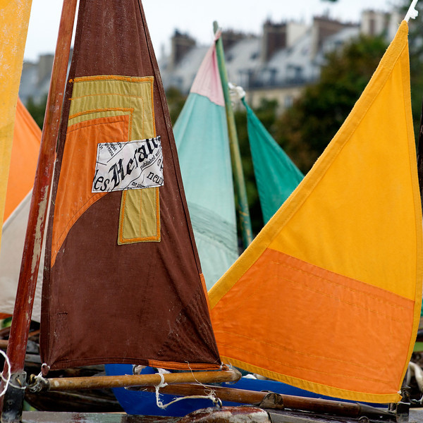 """V"" toy sailboats for rent at the Tuileries gardens"