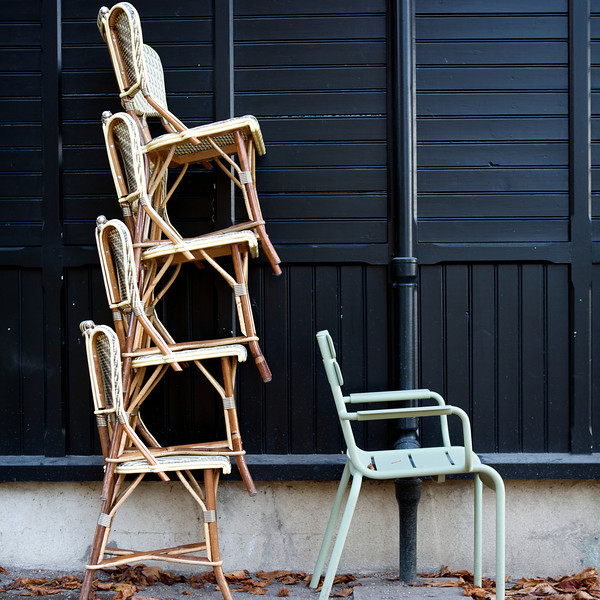 """L"" Luxembourg gardens chair stack"