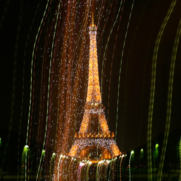 An impressionistic view of the Eiffel Tower begins the Parisian alphabet.