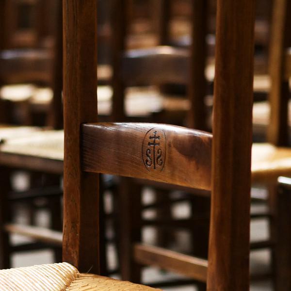 """""""H"""" chair in Saint Sulpice church"""