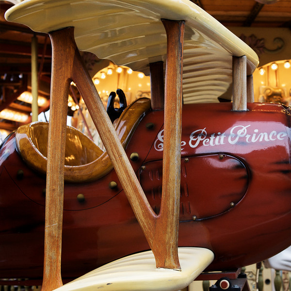 """N"" airplane on a carousel ride"