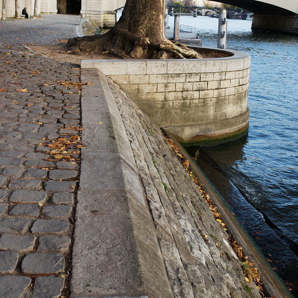 """P"" on the banks of the Seine"