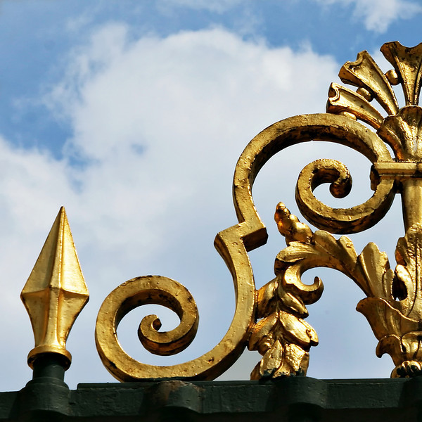 """S"" A gilded ironwork near the Louvre"