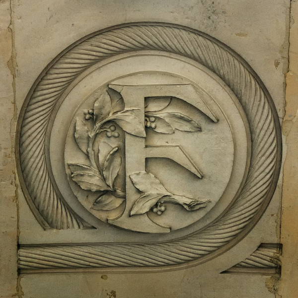 """""""F"""" for France proudly carved in stone"""