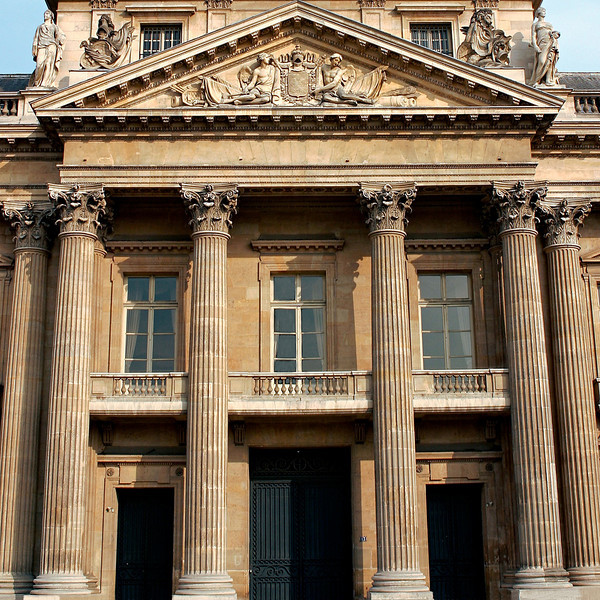 """""""H"""" The facade of the Ecole Militaire"""
