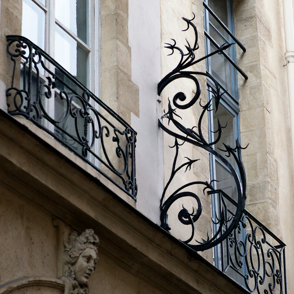 """S"" in wrought iron on the Left Bank"