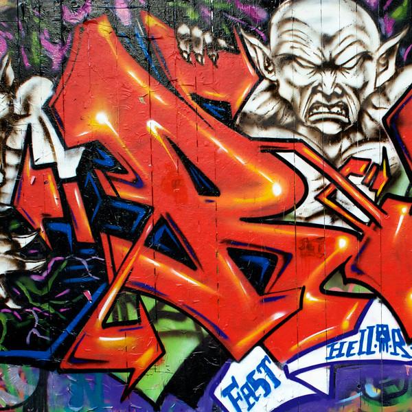 """""""R"""" graffiti"""