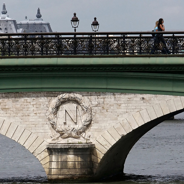 """N"" Reminders of Napoleon are emblazoned on many of Paris' bridges"