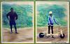 09 Twa bij houten step Rwanda pastel 95