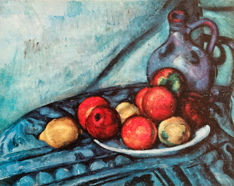 "Cezanne:  ""Fruit and Jug on a Table"""