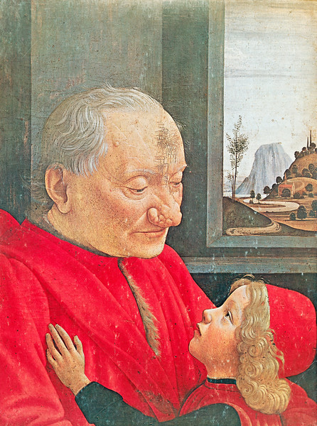 "Ghirlandaio:  ""Portrait of an Old Man with a Young Boy"""