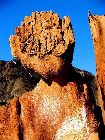 """The Sphinx"" Homage to Richard Dawkins' ""The Blind Watchmaker."" Red Jurassic sandstone, Mohave desert, Nevada. 2005<br /> Read about Dawkins here: <a href=""http://en.wikipedia.org/wiki/The_Blind_Watchmaker"">http://en.wikipedia.org/wiki/The_Blind_Watchmaker</a>"