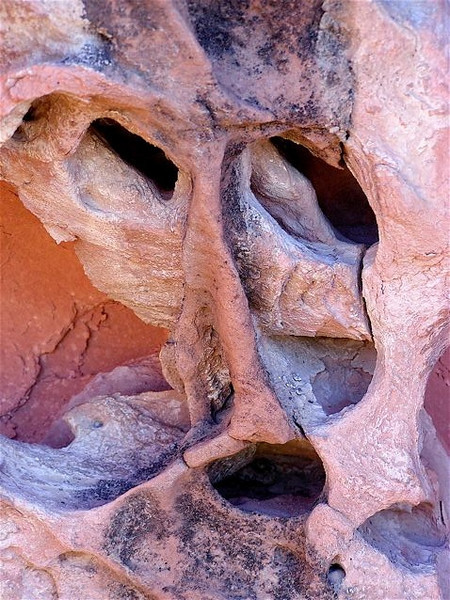 Shaman face.  Photo taken 2005.   Red Sandstone cave.