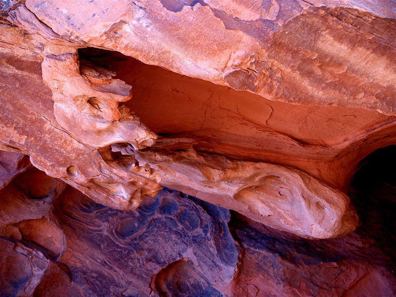 """Dragon Spewing Fire."" Homage to China. 2005. Red sandstone cave. North of Lake Mead. Mojave Desert. Nevada"