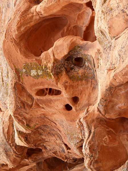 The Demon II (THE DEMON DIPTYCH), Red sandstone; Mohave desert, Nevada.  2007