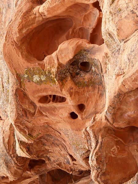 The Demon II (THE DEMON DIPTYCH), Red sandstone; Mohave desert, Nevada.  2007