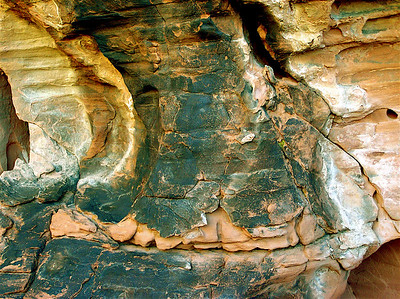 """Elephant's Foot"" ""Homage to Joseph Palermo."" Impression on red Sandstone Cave. North of Lake Mead, Nevada."