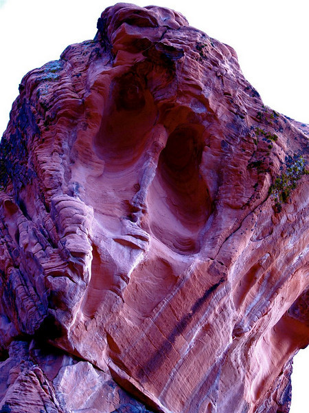 """Demon"" Homage to Mikhail Vroubel. Red sandstone mountain. Mohave desert, Nevada<br /> See the inspiration here: <a href=""http://upload.wikimedia.org/wikipedia/commons/f/f4/Vrubel_Demon_Ceramics.JPG"">http://upload.wikimedia.org/wikipedia/commons/f/f4/Vrubel_Demon_Ceramics.JPG</a>"
