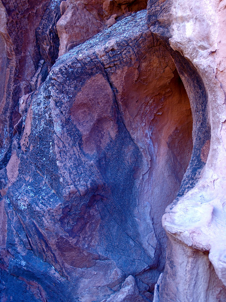 """The Monk"" From my 'Religion Series.' 2005. Sandstone cave. North from Lake Mead. Mojave Desert. Nevada"