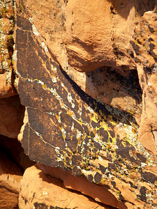SPHINX Red sandstone; Mohave desert, Nevada.  2005