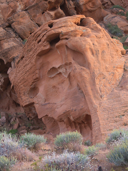 UNTITLED (APPETITE) Red sandstone; Mohave desert, Nevada.  2005