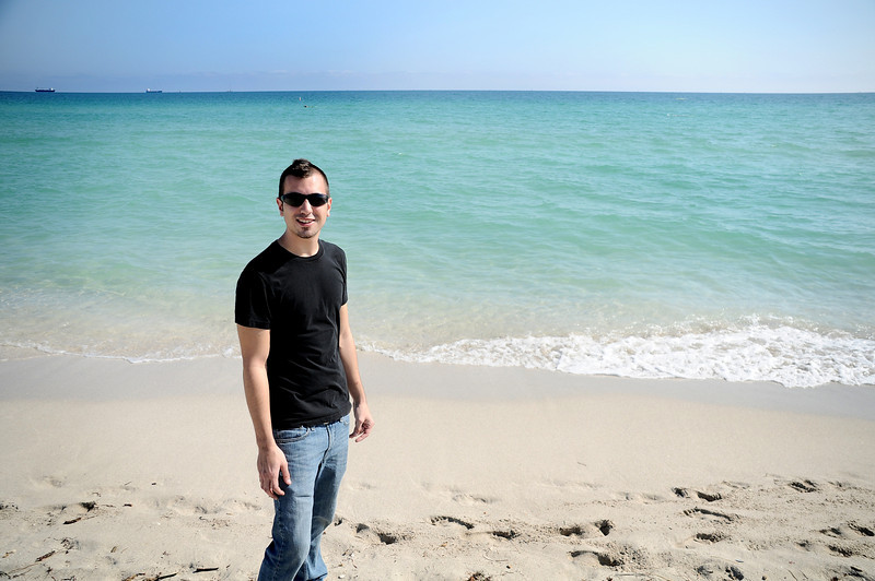 COREY ON THE BEACH