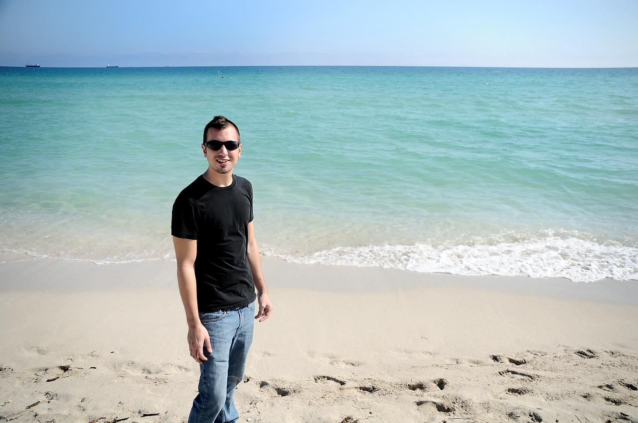 COREY ON THE BEACH