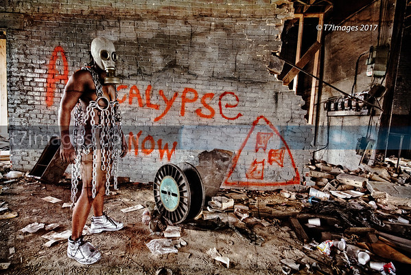 "Fine Art Category: The Industrial Apocalyptic Series- ""Reckoning 2 "", Set and Art designed by Da'Rrell Privott -T7Images, LLC – with Artistic Model Michelle Smith"