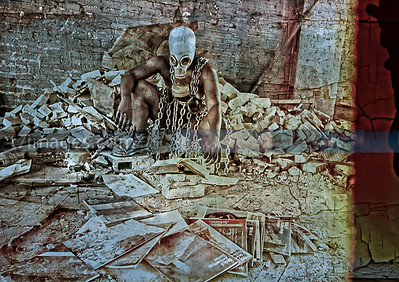 "Fine Art Category: The Industrial Apocalyptic Series- ""Apocalypse 1"",designed by Da'Rrell Privott -T7Images, LLC – with Artistic Model Michelle Smith"