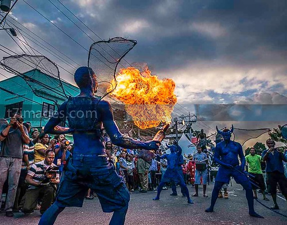 "Fine Art Category: Captured in the Republic of Trinidad and Tobago -Port of Spain, ""Fuming Blue Devils"""
