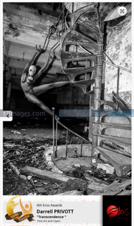"International Fine Art Category: The Industrial Apocalyptic Series; Set design by Da'Rrell Privott -T7Images – with Artistic Model Lena Cooper  ""Transcendence"""