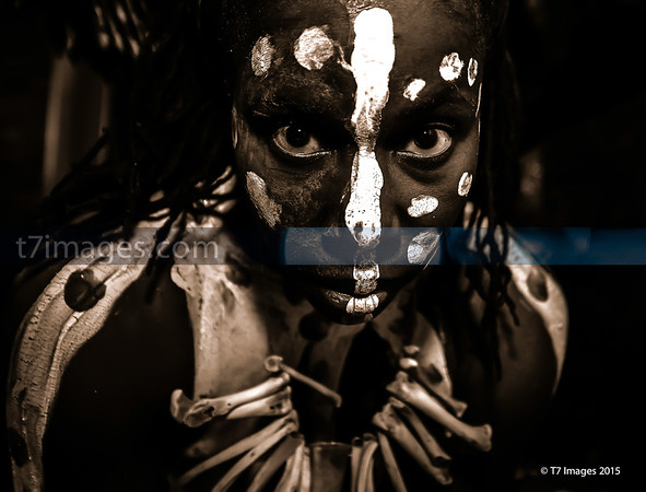 "Fine Art Category: Africana Series- ""Until "", Props, Makeup,  by Da'Rrell Privott -T7Images, LLC – with Artistic Model Michelle Smith"