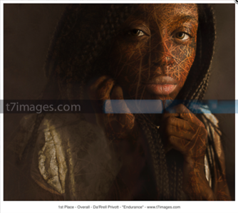 "Fine Art International Portrait Category: ""Endurance""- Art by Da'Rrell Privott -T7Images, LLC  with Model Amoni Channel"