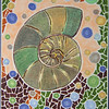 Ammonite Mosaic.  Colored pencils and markers.