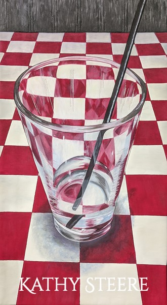"""Water Glass"", 11"" x 20"", 2020"