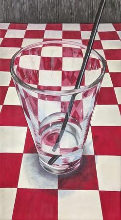 """Water Glass"", 11"" x 20"", 2020"