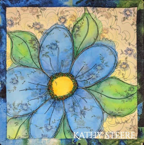 """Blue Daisy"", 10"" x 10"", 2015"