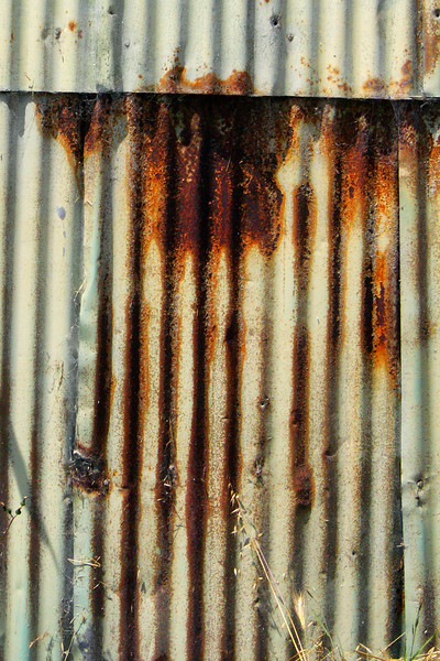 Rusted siding almost always makes for great abstract images. Especially when it's green.