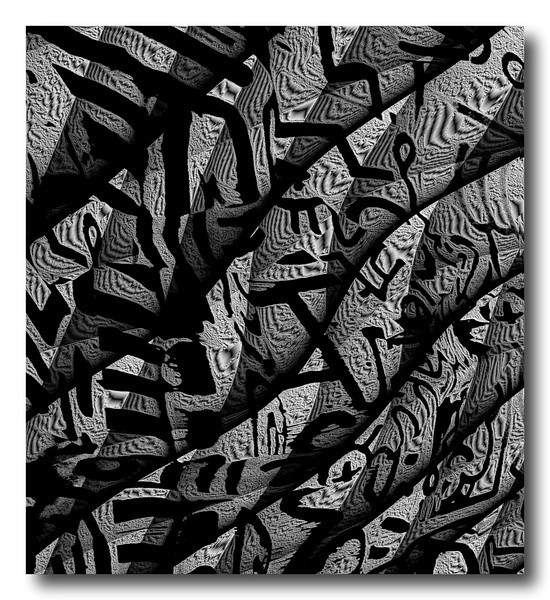 Twisting Monochrome Forms (African Series)