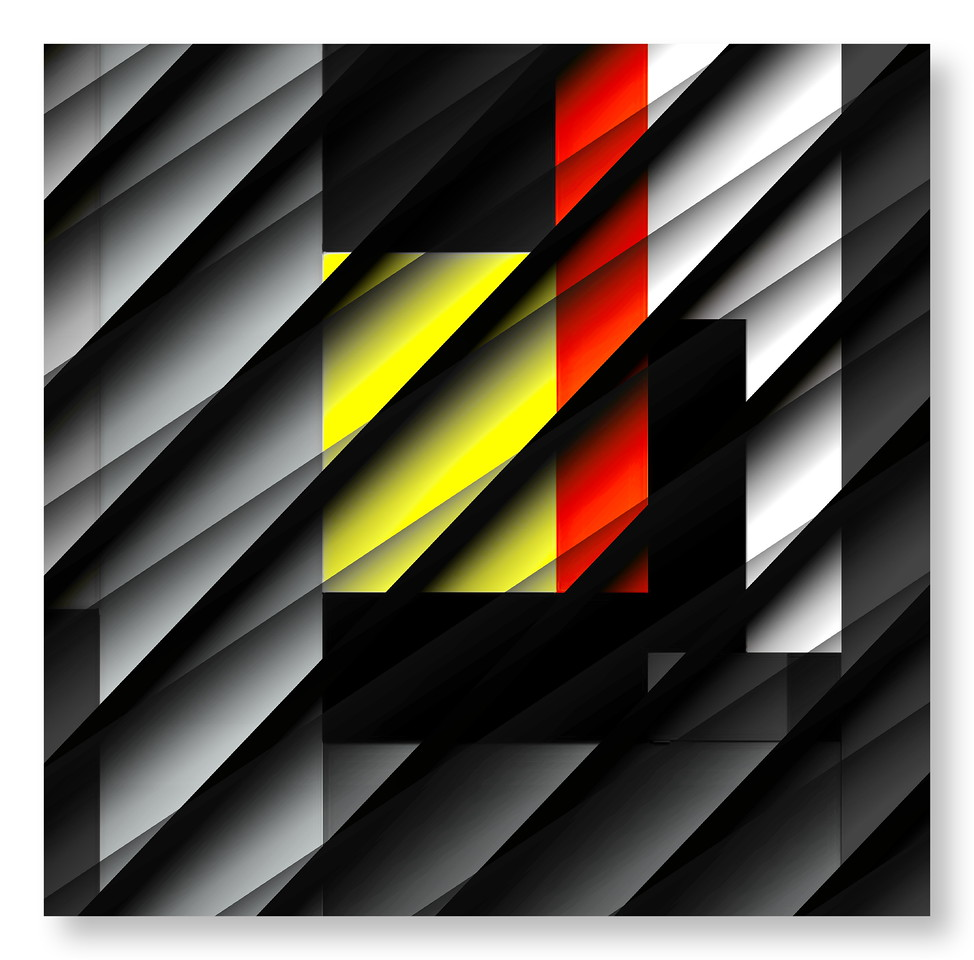 Sliced Forms - Bauhaus Composition