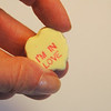 I'M in Love  - Yellow Candy Heart in Hand
