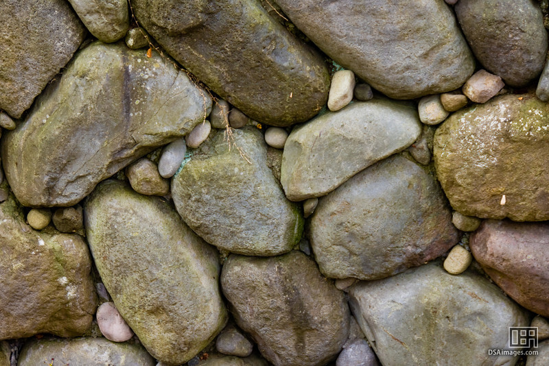 A rock wall near the Oirase Keiryu Hotel, Japan