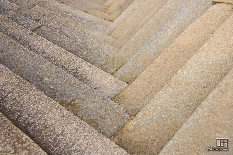 Stone steps at Nijo Castle, Kyoto, Japan