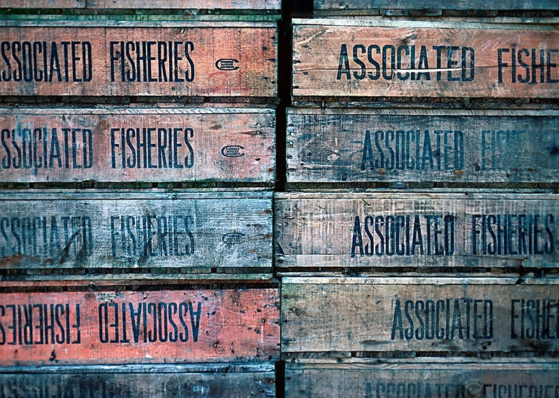 Fish Boxes, Oban, Scotland