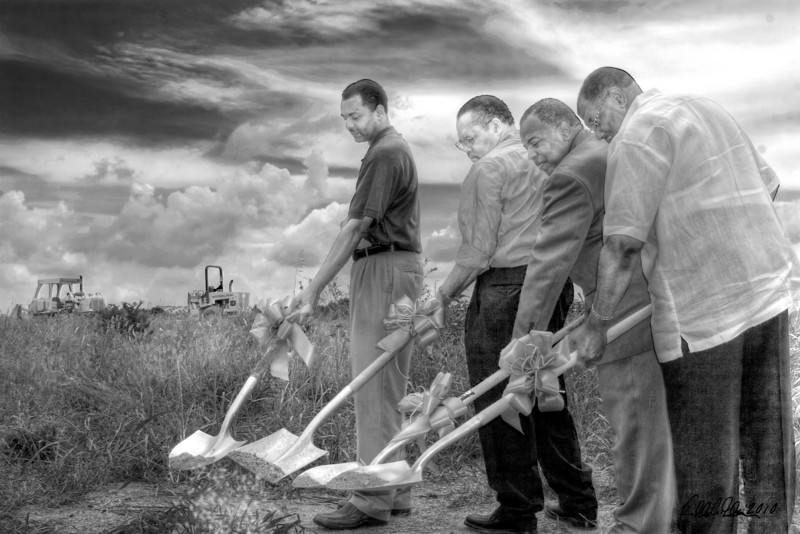 "Ground Breaking - No.1 B&W from the proposed ""Ground Breaking Series"" to benefit New Hope Baptist Church in Belton, SC that burned down in summer of 2008. The proposed series featuring 1 - 4 different images will be used as prints to help meet the church fund raising goals for a new sanctuary. Each image will be available in color or black and white. Proposed print pricing will be $10 and $25 respectively. News footage can be found here: <a href=""http://www.youtube.com/watch?v=ZSKYNnqUf_s"">http://www.youtube.com/watch?v=ZSKYNnqUf_s</a>"