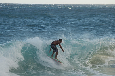 Surfer Maintaining Balance