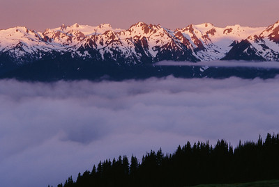 Sunrise over Hurricane Ridge