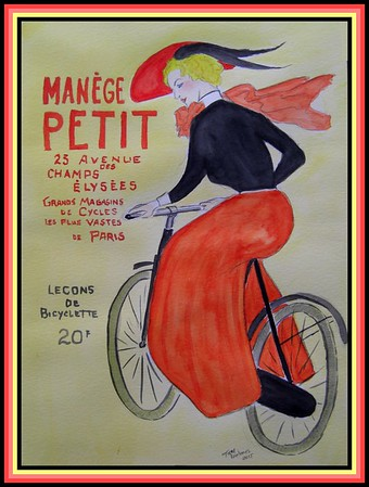 1-Manege Petit, 9x12, watercolor, aug 2, 2015 CIMG1317